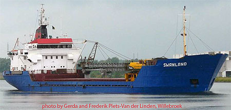 mv SWANLAND, sank 27th Nov 2011